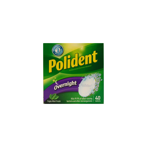 Polident Overnight Denture Cleanser