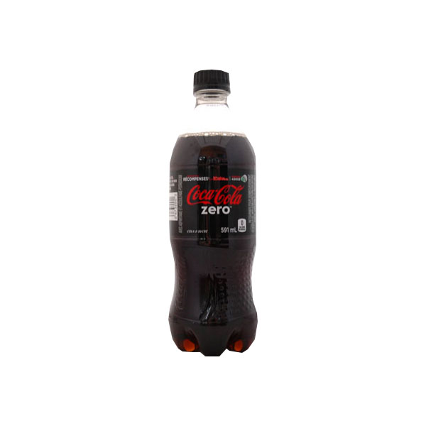Coke Zero 591 mL Bottle