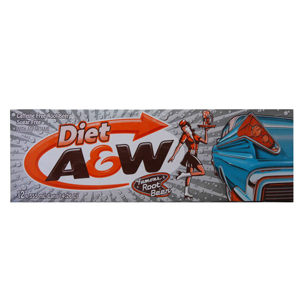 A & W Diet Rootbeer - 12 Pack