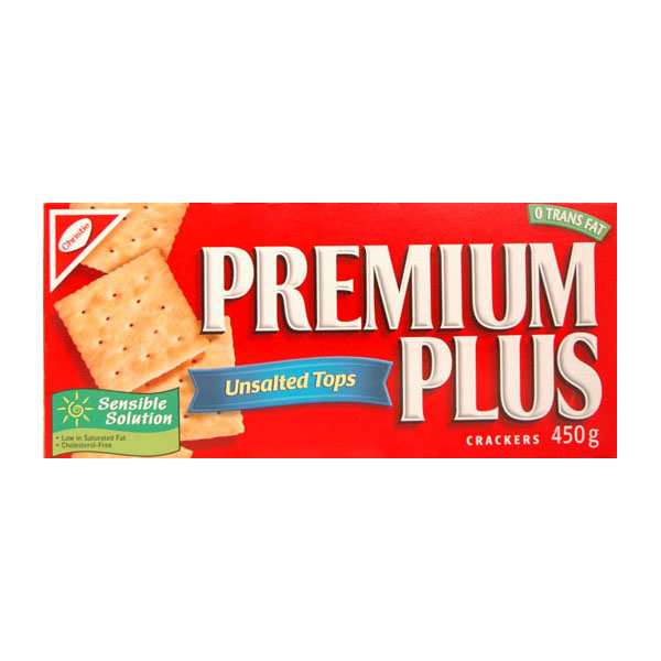 Premium Plus Unsalted Soda Crackers