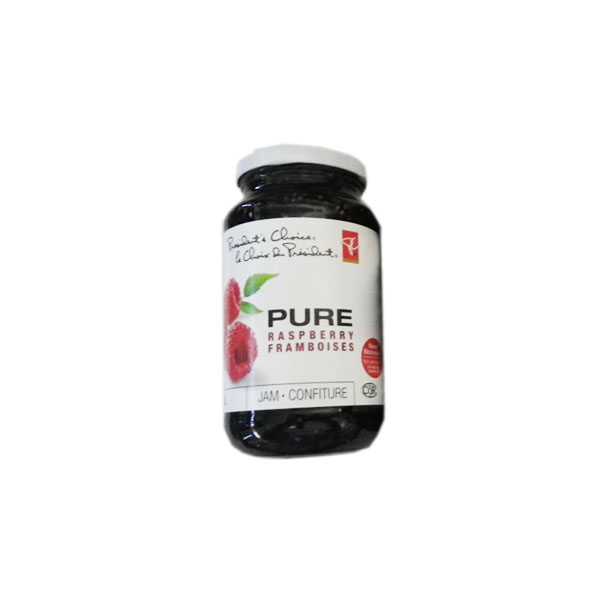 Presidents Choice Pure Raspberry Jam