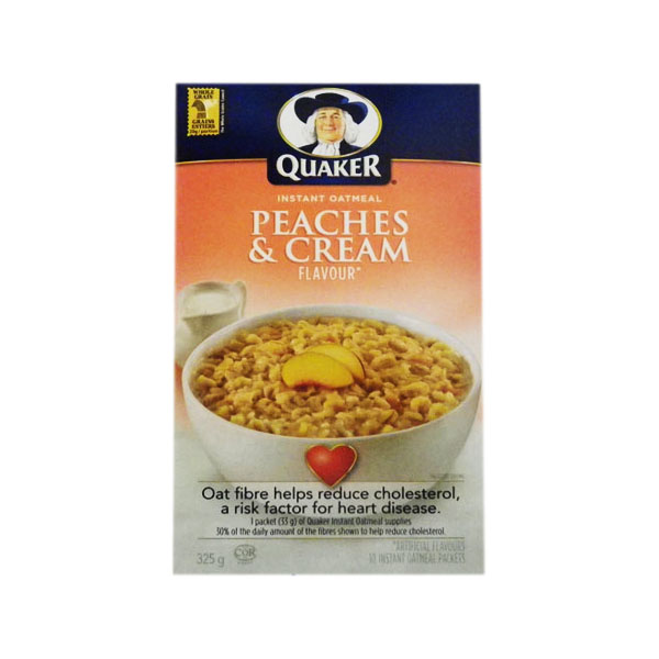 Quaker Peaches & Cream Oatmeal