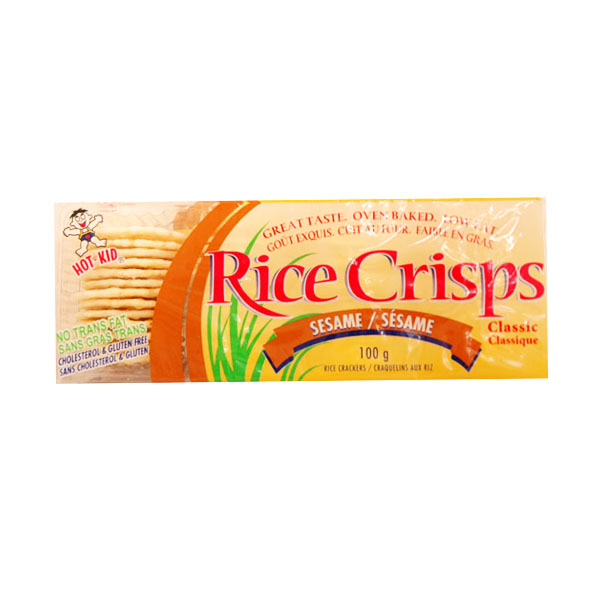 Rice Crisps Sesame Rice Crackers