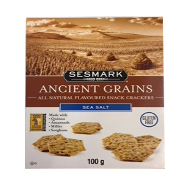 SESMARK ANCIENT GRAINS SEA SALT CRACKERS