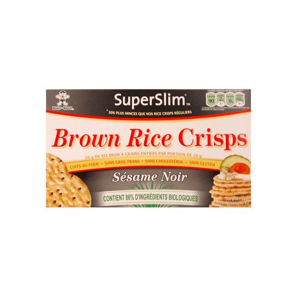 Superslim Black Sesame Brown Rice Crisps