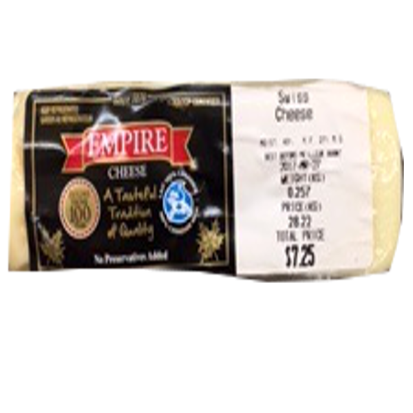 EMPIRE SWISS CHEESE 8OZ-price by weight