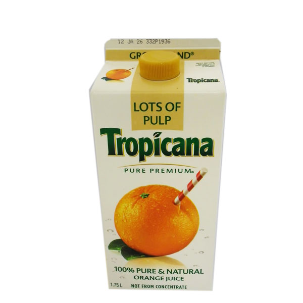 Tropicana Pulp Orange Juice - 1.75L