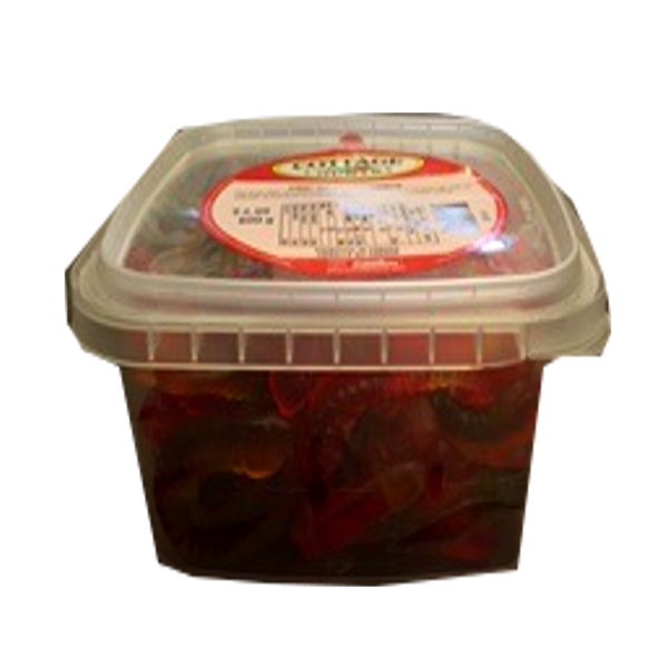 COTTAGE COUNTRY CANDY GUMMY WORMS TUB