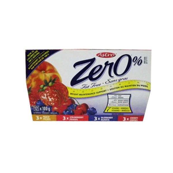 Astro Zero Strawberry, Raspberry, Blueberry, Peach Yogourt - 12 pack