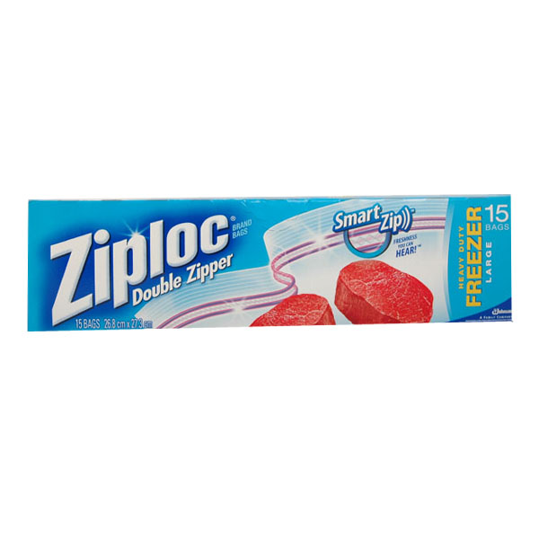 Ziploc Large Double Zipper Freezer Bags